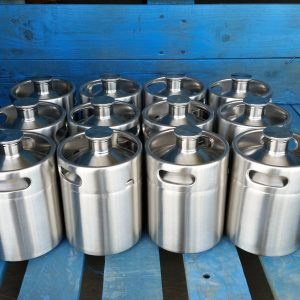 12 2 Liter New Ss Micro Keg Style Growler 187 Stainless