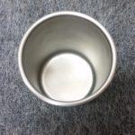 stainless steel lab beaker