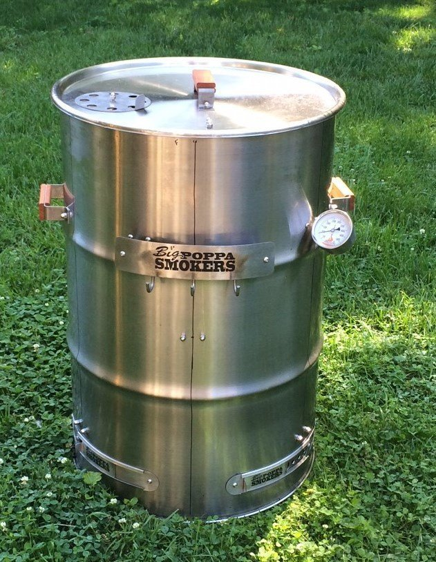 Fireplace Design 55 gallon drum fireplace : 55 Gallon Stainless Steel Drum Smoker using one of out new 1.2mm ...