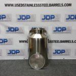 15 gallon stainless steel milk pail