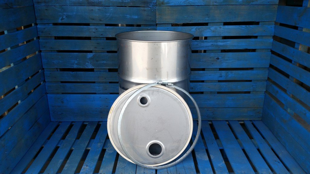 used stainless steel open top drum for sale