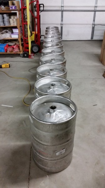 Used Stainless Steel Kegs