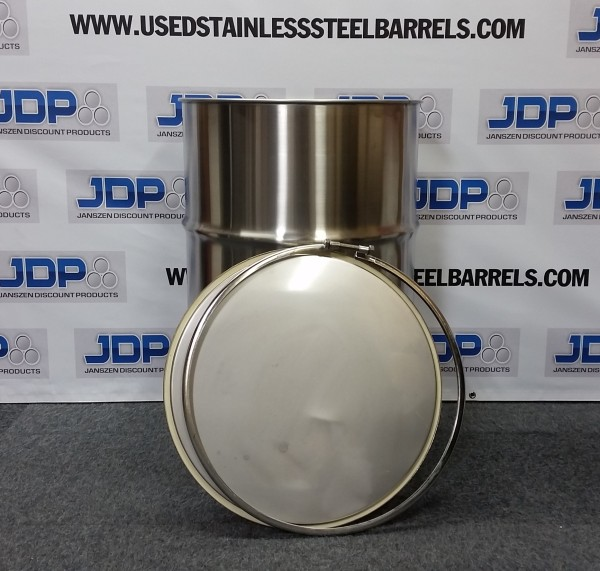 new stainless steel open top barrel