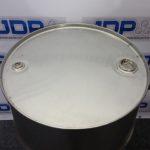 closed top stainless steel drum