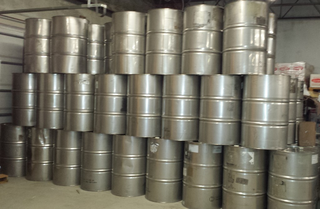 Used stainless steel barrels product galleryused for Metal 55 gallon drum