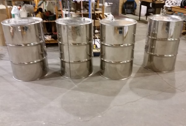 reconditioned stainless steel drums